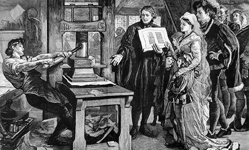 دستگاه چاپ قدیمی